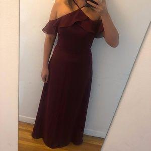 JJs House - Wine/Claret Bridesmaid Dress